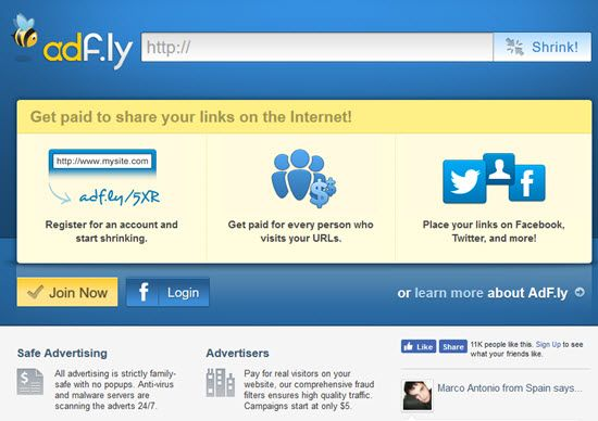 Adf.ly Share URL and Earn