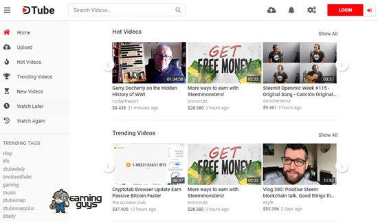 DTubeSites Like YouTube