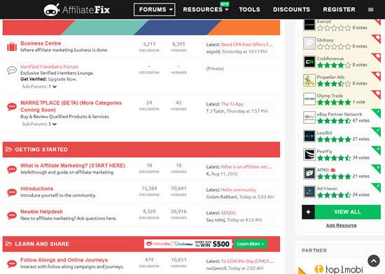 AffiliateFix Affiliate Forum