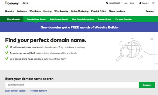 GoDaddy Cheap Domain Names