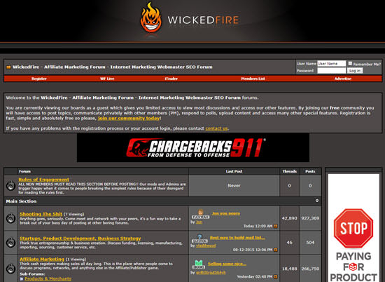 WickedFire Affiliate Forums