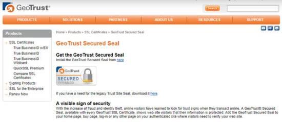 GeoTrust Trust Badges