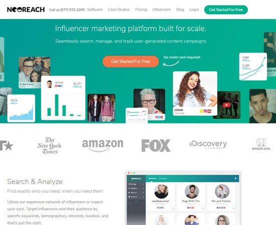 NeoReach Influencer Marketing Tool