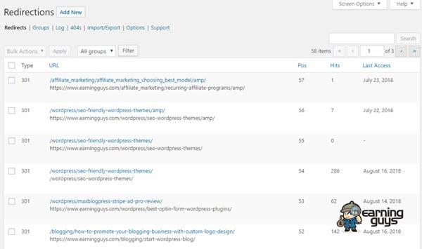 Redirection WordPress Plugin
