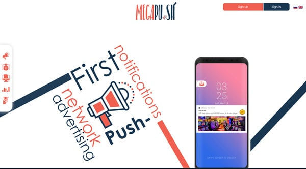 MegaPu.sh Push Notifications Ads