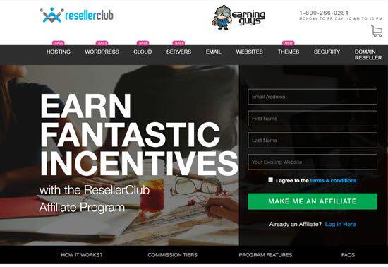 Resellerclub India Affiliate Program