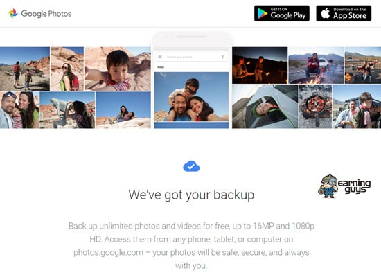 Google Photos Image Hosting