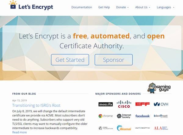 Let's Encrypt Free SSL Certificate