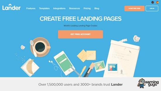 Lander Landing Page Creator