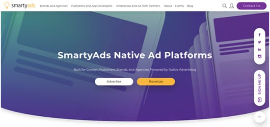 SmartyAds Native Ad Network