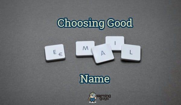 Choosing Good Email Name