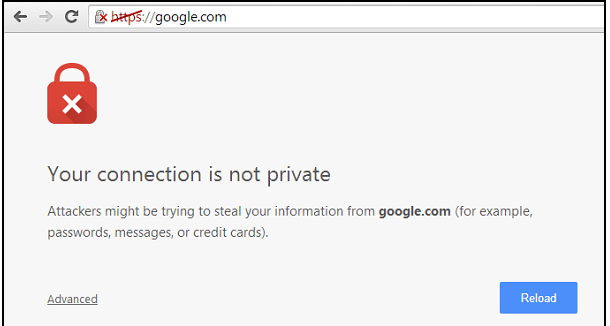 connection not private