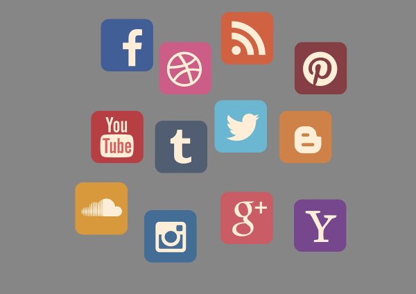 icon set social media google soundcloud yahoo twitter facebook youtube