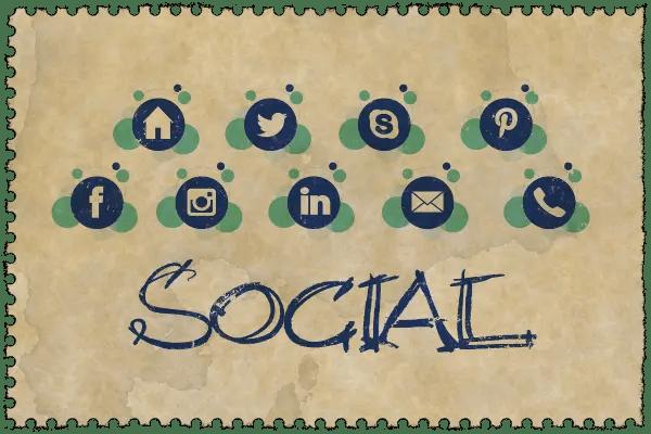 social twitter facebook skype pinterest instagram mail