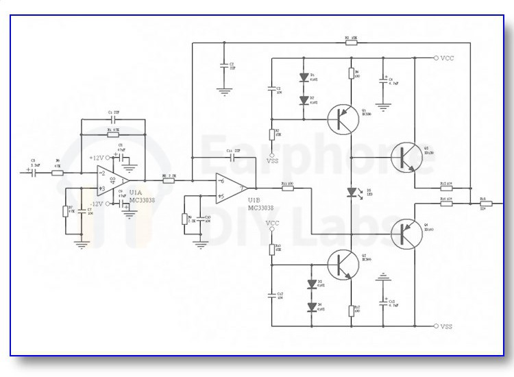 EDL A1 Headphone Amplifier DIY KIT