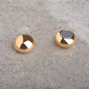 Gold Plated Magnetic Stud Men Earrings