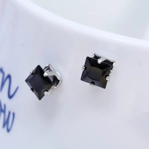 Men Earrings Square