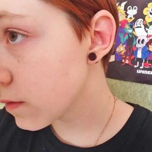 Black Wooden Earrings Studs For Guys
