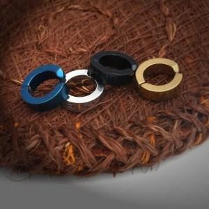 4 Colors Clip on Huggie Hoop Earrings for Men