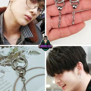 BTS Circle Stainless Steel Drop Earring Mens is Gothic style design earring. Made of Stainless Steel which is Hypoallergenic and adorable metal.