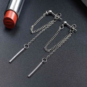 Cute Long Dangle Chain Earrings