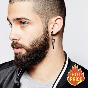Triangle Hoop Earring for Men
