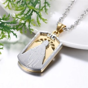 Virgin Mary Pendant Necklace Stainless Steel 2 Colors 2