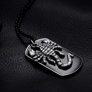Scorpion Pendant Necklace 27.5 Inch For Men
