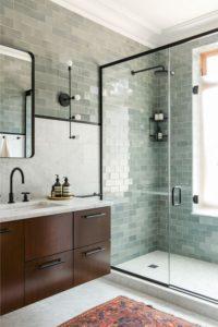 glass tile shower earth 1st flooring
