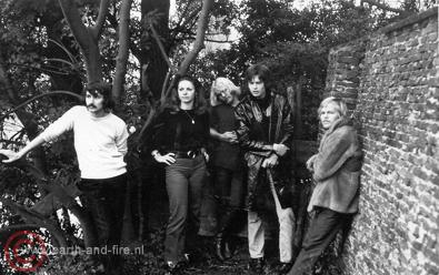 Eerste repetitie van Earth and Fire met Jerney Kaagman, 1969