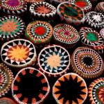 colorful woven baskets