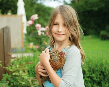 Girl with chicken for website