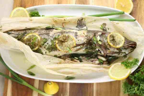 Whale Baked Haddock in parchment paper is an easy set and forget it supper !