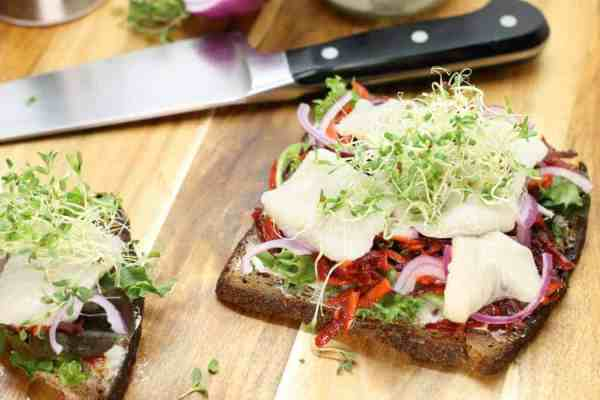 A delicious and healthy lunch, this german pickled herring sandwich is great for anyone who is looking for a quick meal and loves herring!