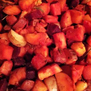 Sweet Roasted Root Veg by Chrissy Faery