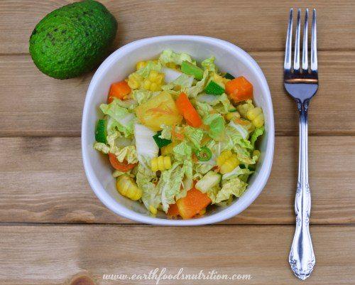 Crunchy Pe-Tsai and Pineapple Salad [Easy Vegan Recipe]