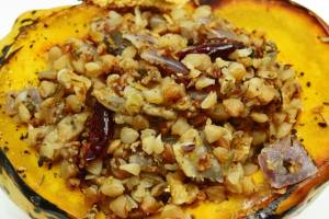 Buckwheat Stuffed Squash Recipe