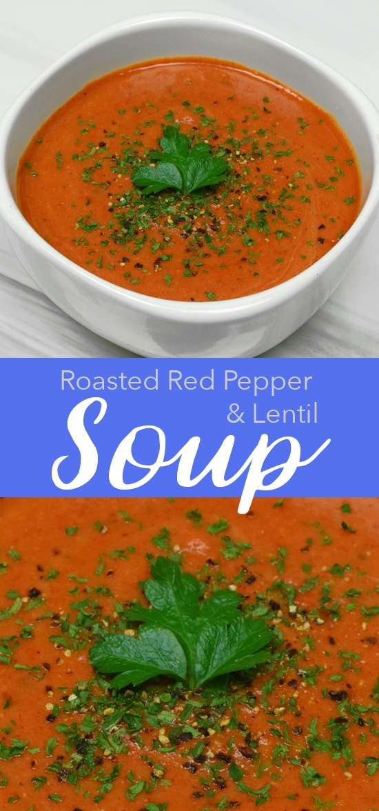 Roasted Red Pepper Soup | Vegan and Gluten Free Recipe!