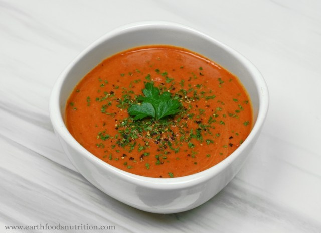 Roasted Red Pepper and Lentil Soup