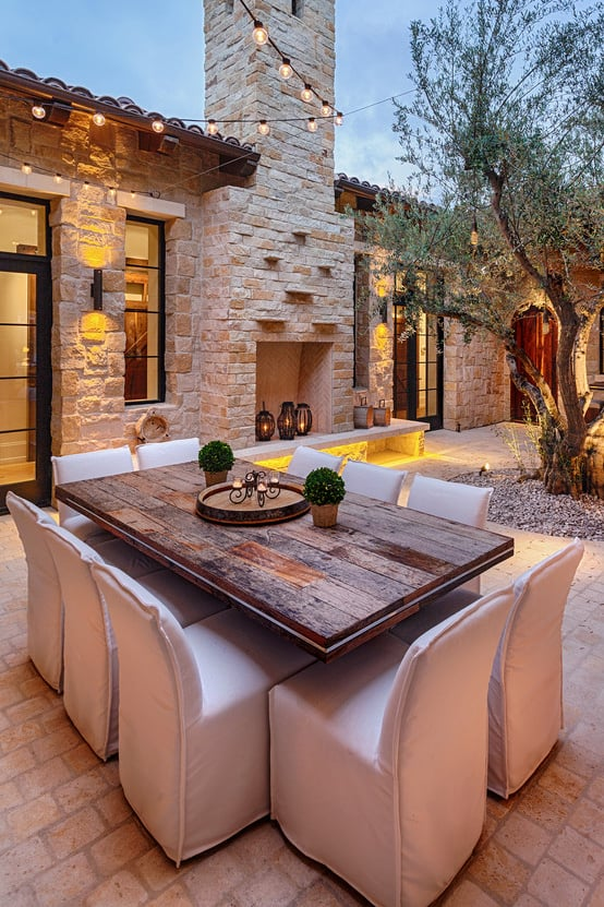 Mediterranean Patio Design Ideas - Outdoor Living Area