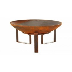 Retro Living Room Coffee Table Ikea Furniture For Outdoor Cast Iron Fire Pit/pond/planter Square Rings & Base