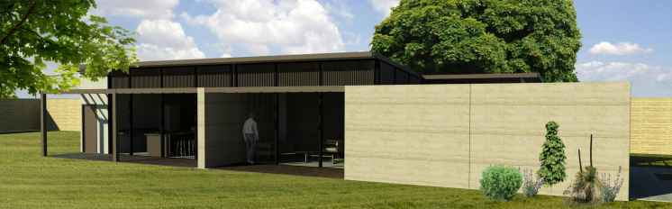 The Focus is a 3-bedroom house design by EarthHouse, which designs and builds rammed earth homes in Melbourne and the Mornington Peninsula