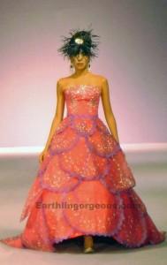 Lloyd Arceo orange gown