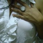 White Bead Ring