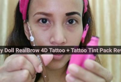 Cathy Doll RealBrow 4D Tattoo Tint and Tattoo Tint Pack review