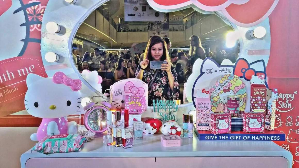 Happy Skin Sanrio Characters Makeup Collection Swatches,  Prices,  and the Launch Event
