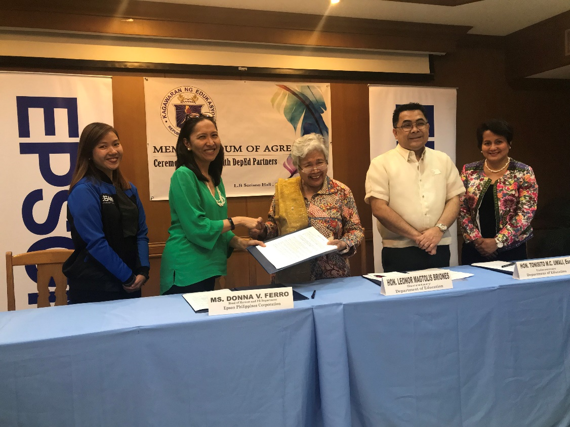 Epson Strengthens Partnership with DepEd on Gift of Brightness
