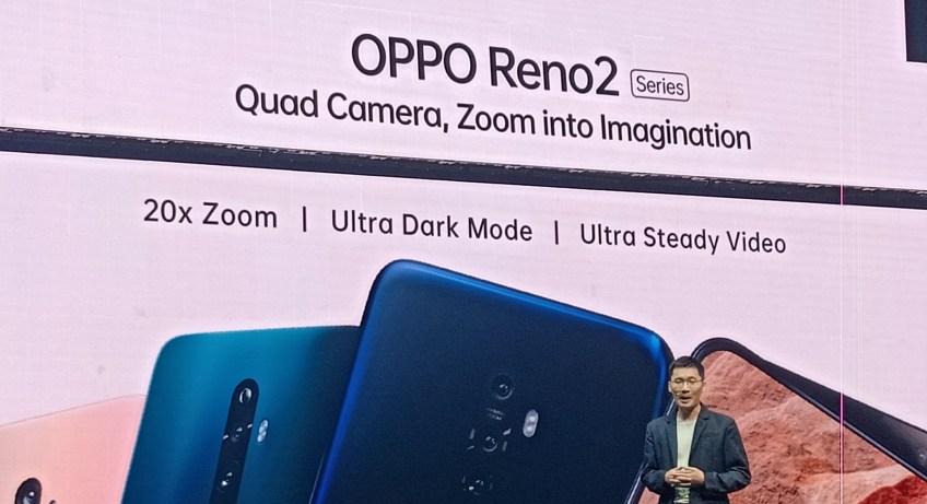 Oppo Reno 2 20x zoom price and specs