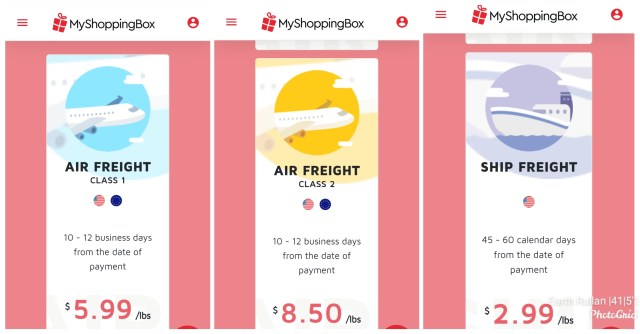 My Shopping Box shipping rate to Philippines