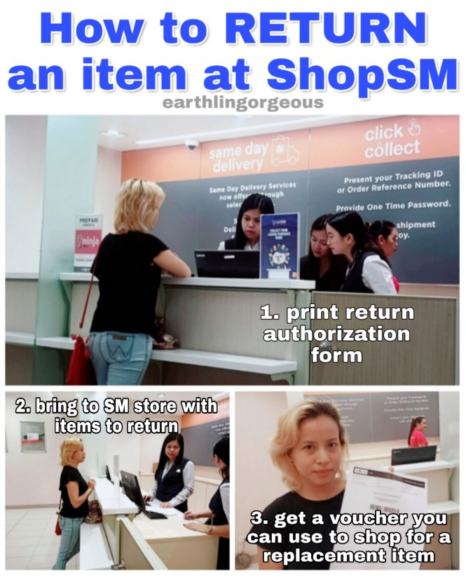 How to return wrong item at ShopSM